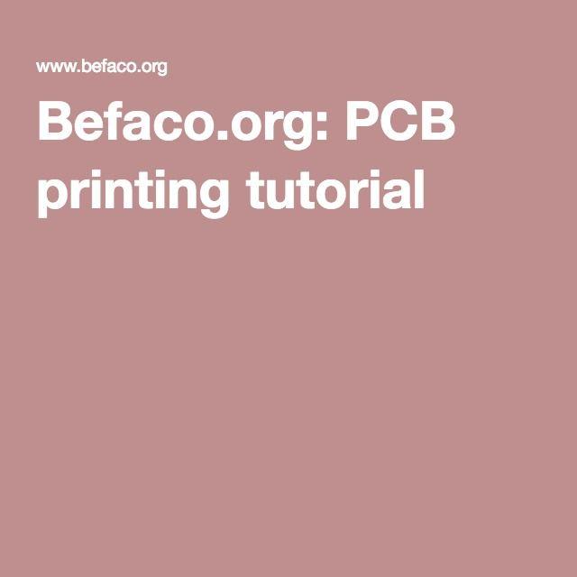 Befaco.org: PCB printing tutorial