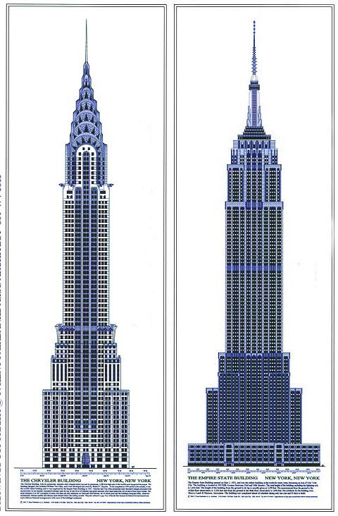 P. KENT FAIRBANKS ARCHITECT / PHOTOGRAPHER - historical architectural drawings - The Chrysler Building and the Empire State Building