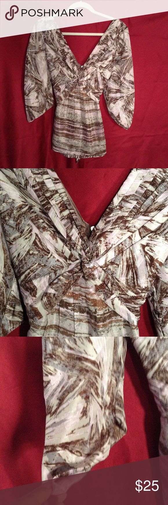 BCBGMAXAZRIA Top Excellent condition.  This beautiful top is a Large. BCBGMaxAzria Tops