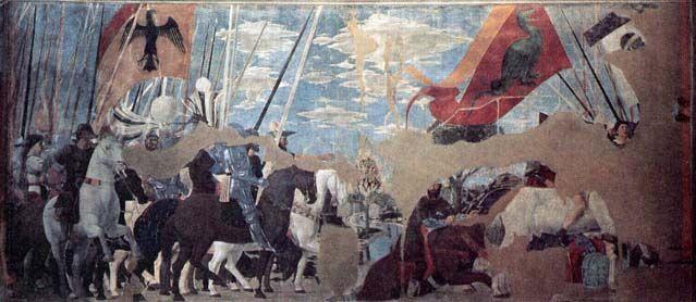 Piero della Francesca, Battaglia di Costantino contro Massenzio a #PonteMilvio (sempre Arezzo)