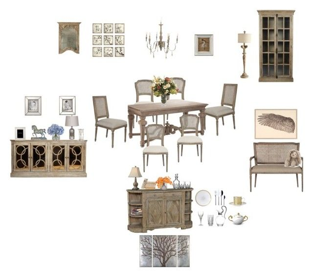 """""""Julian salle à manger"""" by isabelledupuis ❤ liked on Polyvore featuring interior, interiors, interior design, home, home decor, interior decorating, Aidan Gray, Zentique, Cyan Design and John-Richard"""