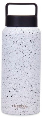 CheekyGo Cheeky® 32oz Insulated Stainless Steel Water Bottle - White with Black Speckles