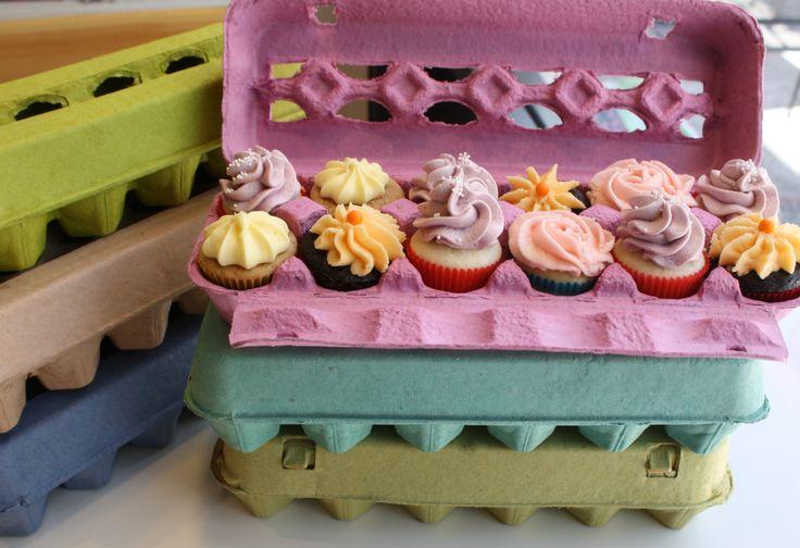 cupcakes - usos alternativos caja de huevos...  esta idea me pareció mas que original...no tiren mas las cajas de los huevos! sigan la onda verde y reciclen..