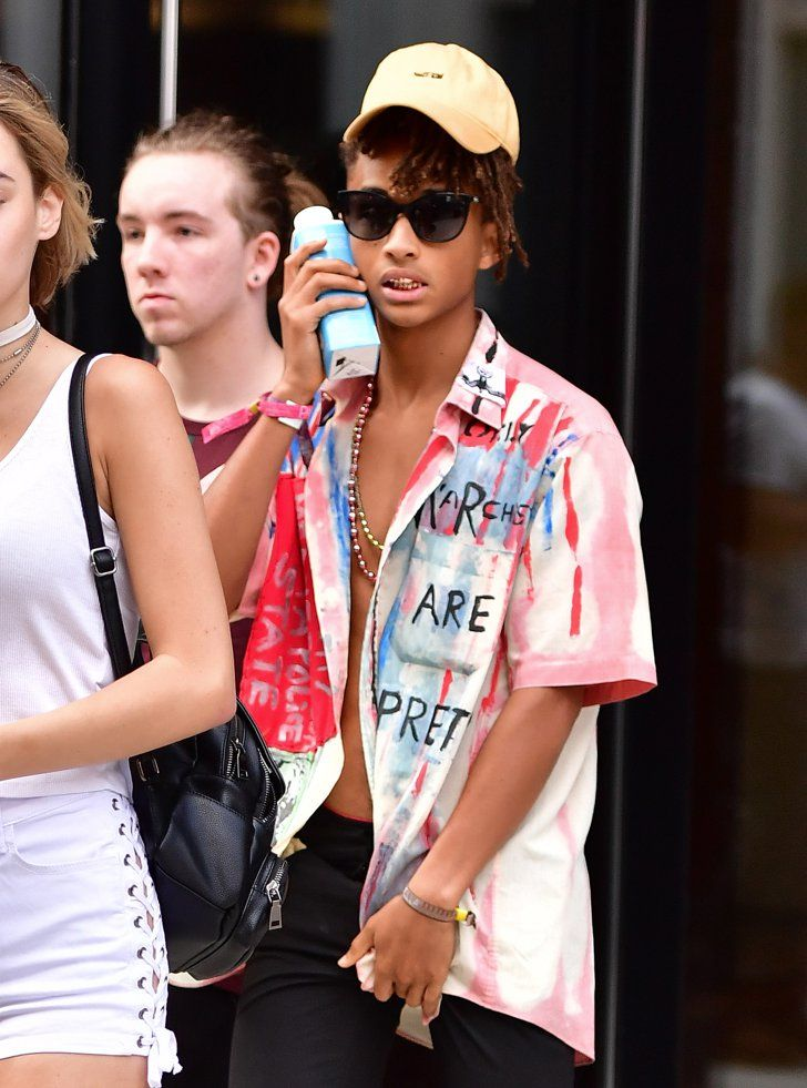 Pin for Later: Jaden Smith Practically Goes Shirtless While Running Errands With His Girlfriend in NYC
