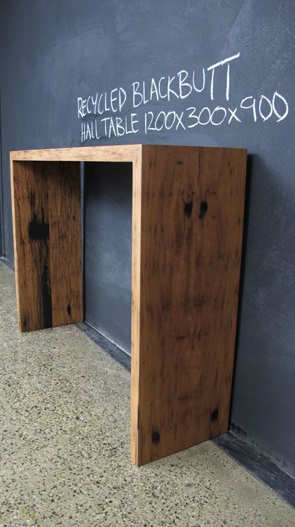 Recycled Mitred Blackbutt Hall Table | Christian Cole Furniture                                                                                                                                                                                 More
