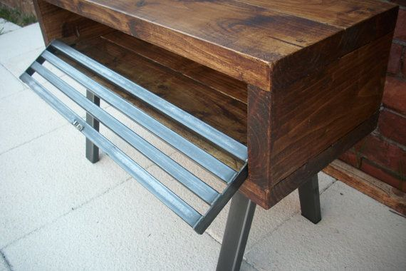 Tall Tv stand Rustic industrial tv cabinet by Redcottagefurniture