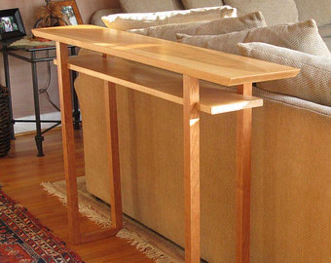 Table de canapé bois étroit à la main : Console Table, Table Hall-milieu du siècle moderne bois mobilier-CLASSIC COLLECTION