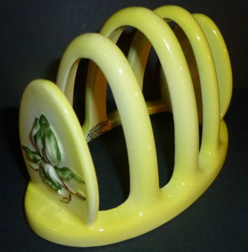CARLTON WARE YELLOW MAGNOLIA PATTERN TOAST RACK. | eBay