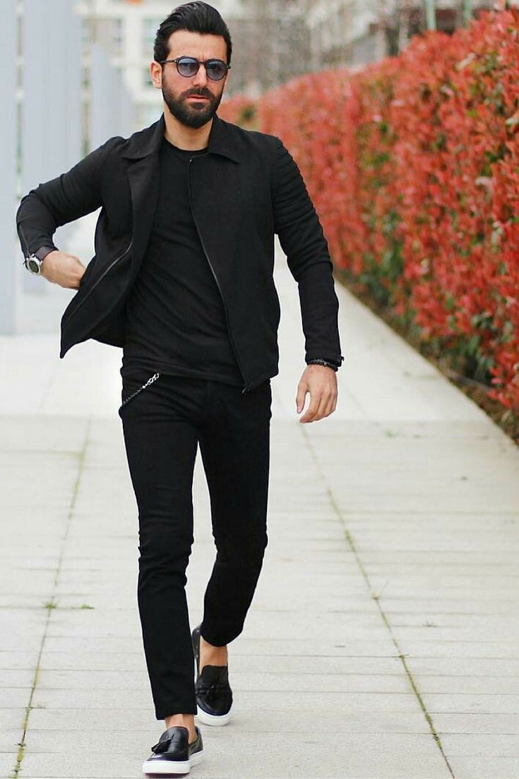 all black outfits for men black on black outfit