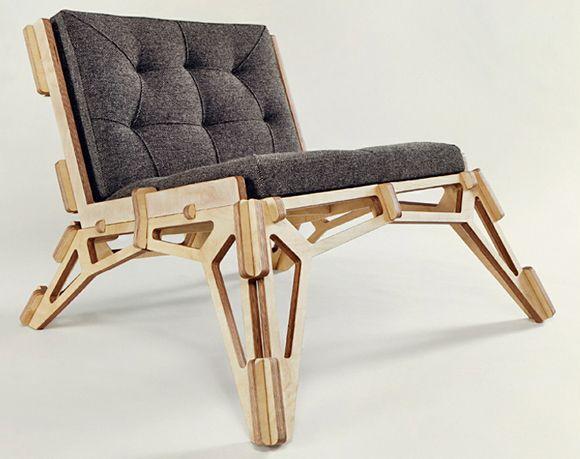 Gustav Düsing's CNC Lounge Chair Design