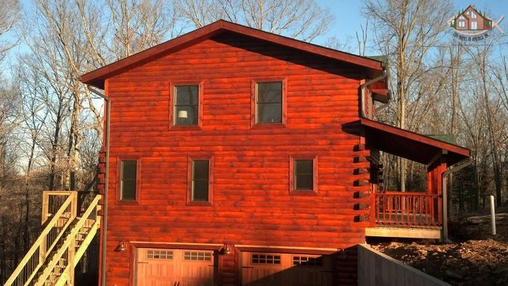 How To Stain Log Cabin Of Sikkens Log Siding Teak Exterior Stain Options