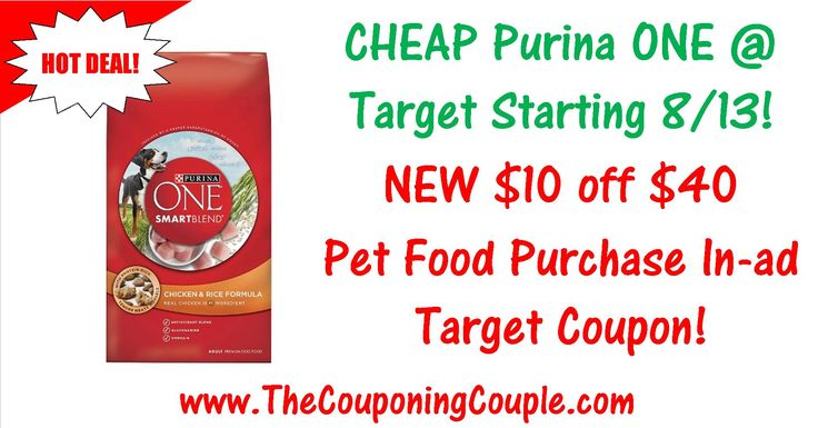 ***NEED PET CARE PRODUCTS ~ NEW $10 OFF $40 PET CARE PURCHASE TARGET Q*** Here is HOT Purina ONE Dog Food Deal + a HUGE list of Pet Care Coupons to Match with the NEW Target Q! Click the Picture below to get the BREAKDOWN including MOBILE FRIENDLY DIRECT LINKS to the coupons ► http://www.thecouponingcouple.com/purina-one-deal/  Help us out and use the SHARE button below the Picture to SHARE this post with your Family and Friends!  #Coupons #Couponing #CouponCommunity