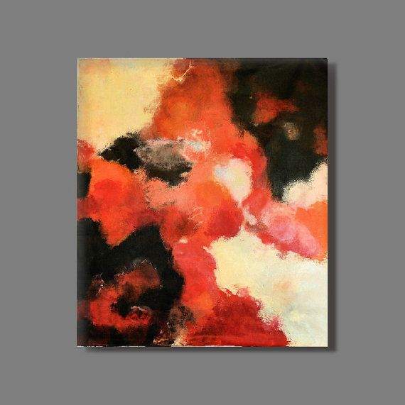 "FREE SHIPPING - Acrylic painting 70x80 cm,28""x32""abstract painting, original paiting,canvas painting, modern painting,black,blue,red,white"