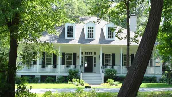 Lafayette Parish House Southern Living Plan.  I like the front porch and white/black color scheme...