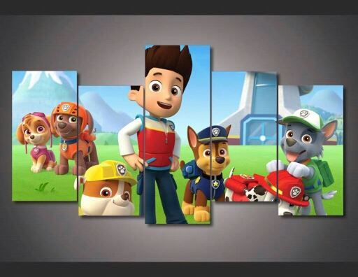 Cheap canvas rucksack, Buy Quality canvas warehouse directly from China canvas band Suppliers:   Framed Printed Paw Patrol Picture Painting Wall Art Room Decor Print Poster Picture Canvas Free Shipping F/1296     &