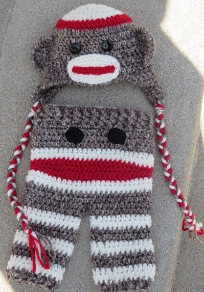 Free Crochet Pattern Sock Monkey Hat For Baby : 17 Best ideas about Crochet Sock Monkeys on Pinterest ...