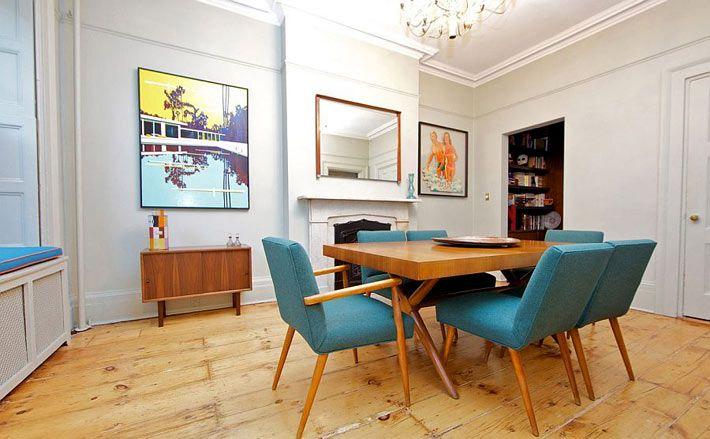 Винтажная мебель в дизайне таунхауса в Нью-Йорке - Дизайн интерьеров | Идеи…
