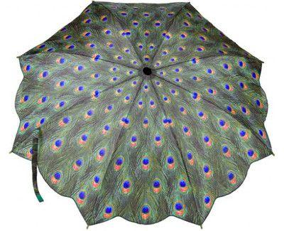 Blooming Brollies Dámsky skladací plne automatický dáždnik Peacock GMFPEA