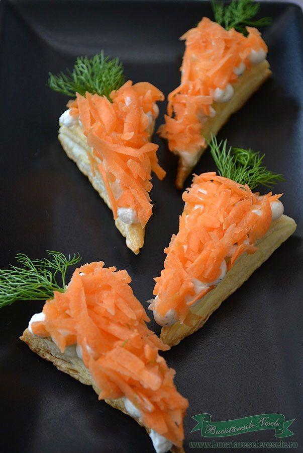 Reteta aperitiv cu crema de branza si morcov.Aperitive de Pasti.Aperitive pentru mese festive.Cele mai bune aperitive cu crema de branza Ceva fin Delaco.