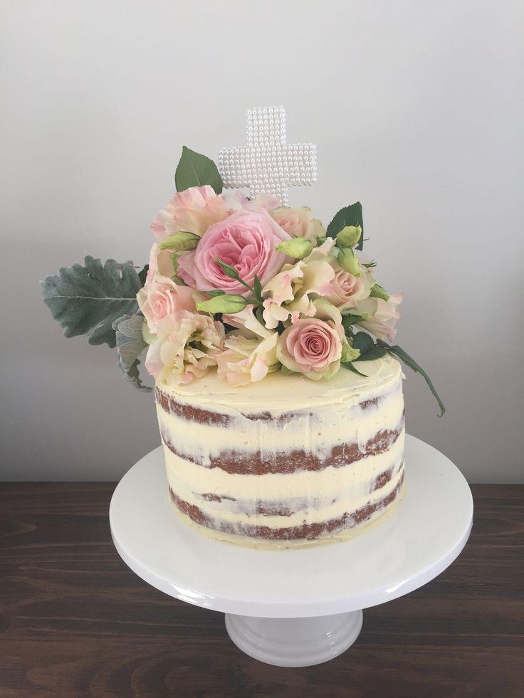 Baptism Semi-Naked cake