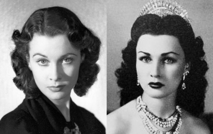 Famous Lookalikes: Vivien Leigh - Princess Fawzia (Images of Vivien Leigh and Princess Fawzia provided by Getty Images)