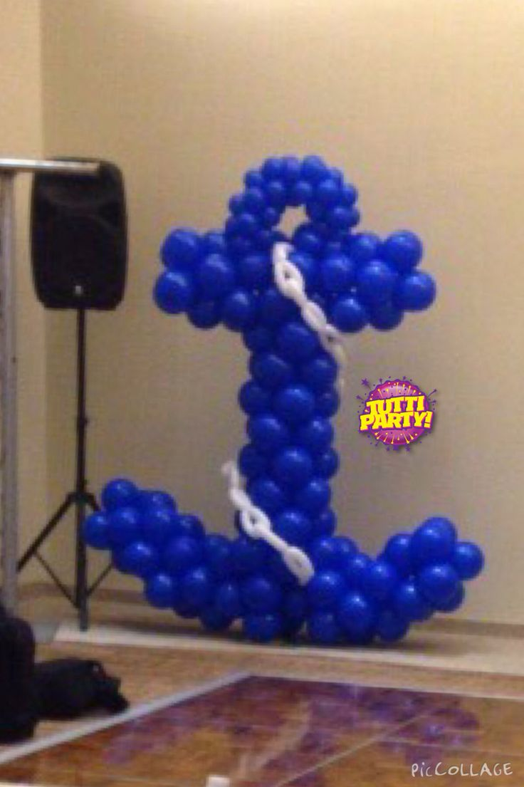97 best images about balloons globos y accesorios para for Anchor balloon decoration