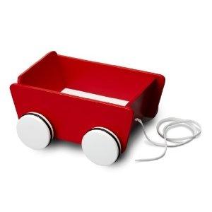Micki 10.2131.00 - Carrito con ruedas y correa de madera color rojo [Importado de Alemania]: Amazon.es: Juguetes