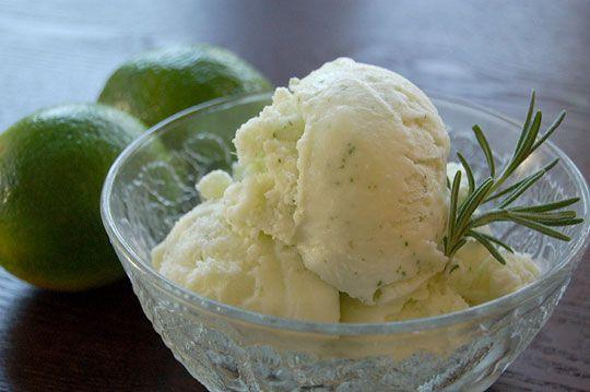 Rosemary-Lime Sparkle Ice Cream