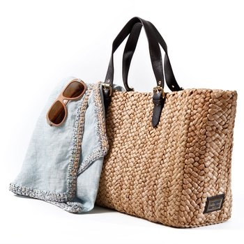 Basket Tote. This chic Felix Rey straw tote with leopard print accents is roomy enough to hold everything you need for an afternoon at the beach or at the pool. $220.00 - I bet you can find something similar for much, much less $$$!