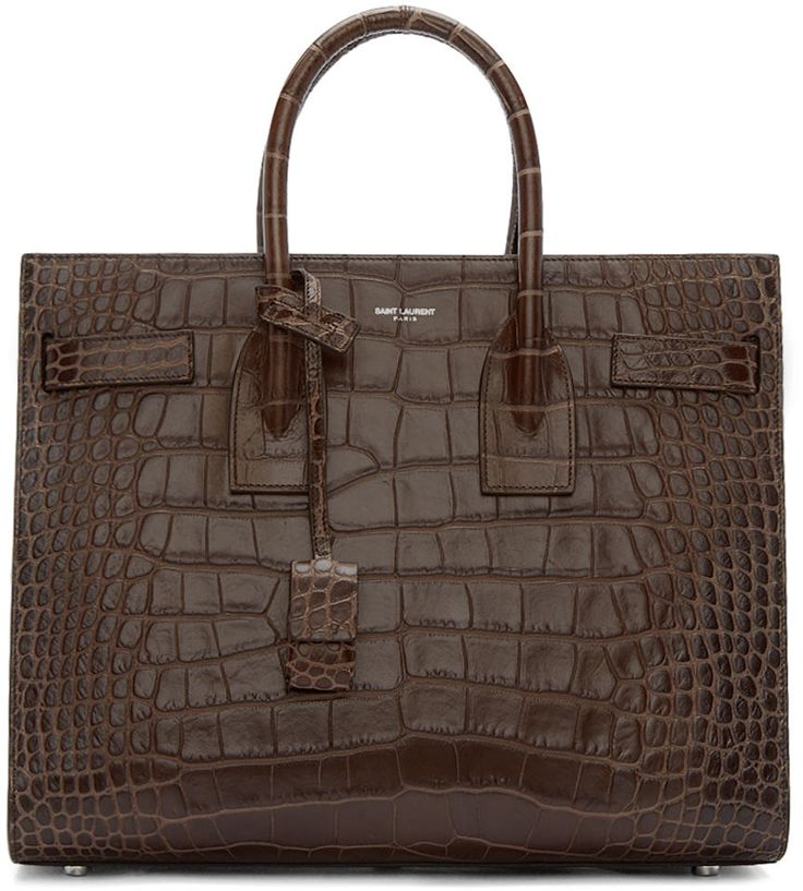 Saint Laurent Brown Sac De Jour Tote #handbag