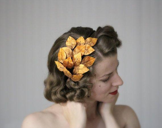 Archetto di autunno foglia capelli accessorio di ChatterBlossom