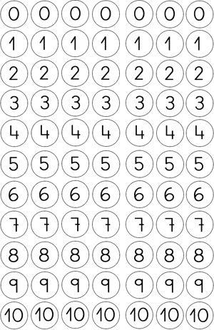 bingo dot numbers 0-10