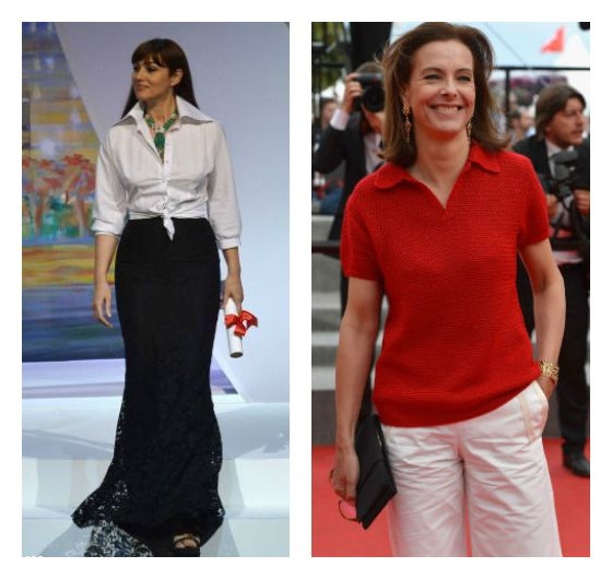 Ageless Style - Easy does it classic white separates by way of Monica Bellucci and Carole BouquetFocusOnStyle | Sharon Haver