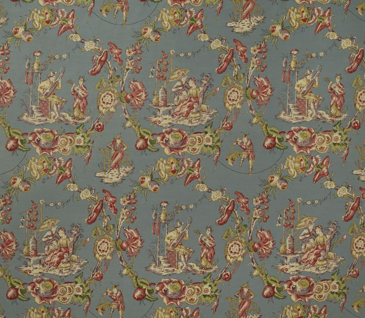 Cathay Toile-Periwinkle : Marvic Textiles