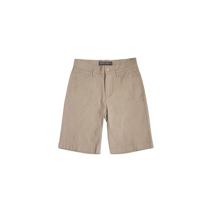 Eddie Bauer Boys' Chino Shorts - Khaki 12, Beige