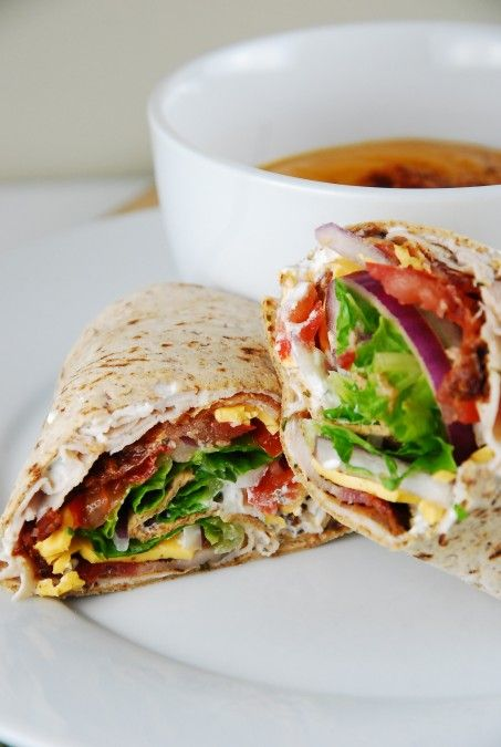 Bacon Ranch Turkey Wrap Recipe – 6 Points - LaaLoosh | See more about turkey wraps, turkey wrap recipes and turkey bacon.