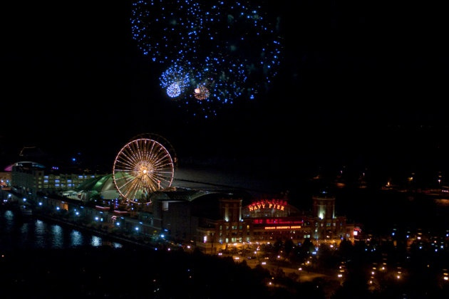 Chicago    Fireworks fans don't need to wait for July 4th to celebrate in Chicago. Navy Pier sets the stage all summer long