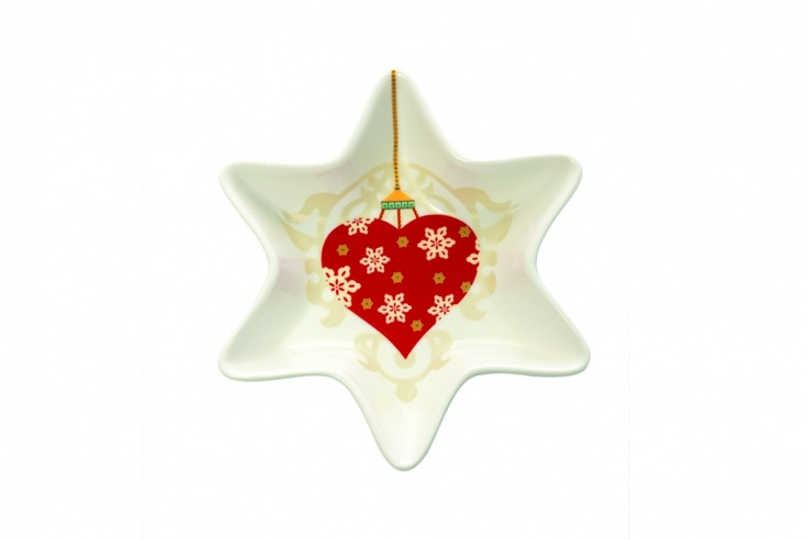 Maxwell and Williams Christmas Baubles Star Dish 16cm