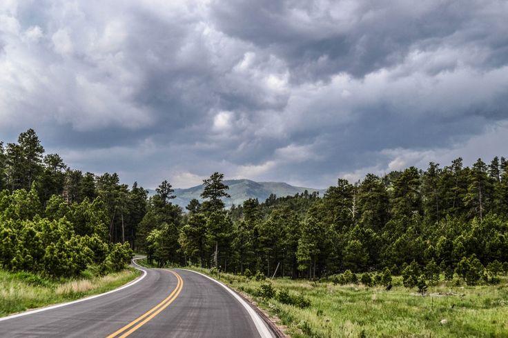Road, sky, clouds, street