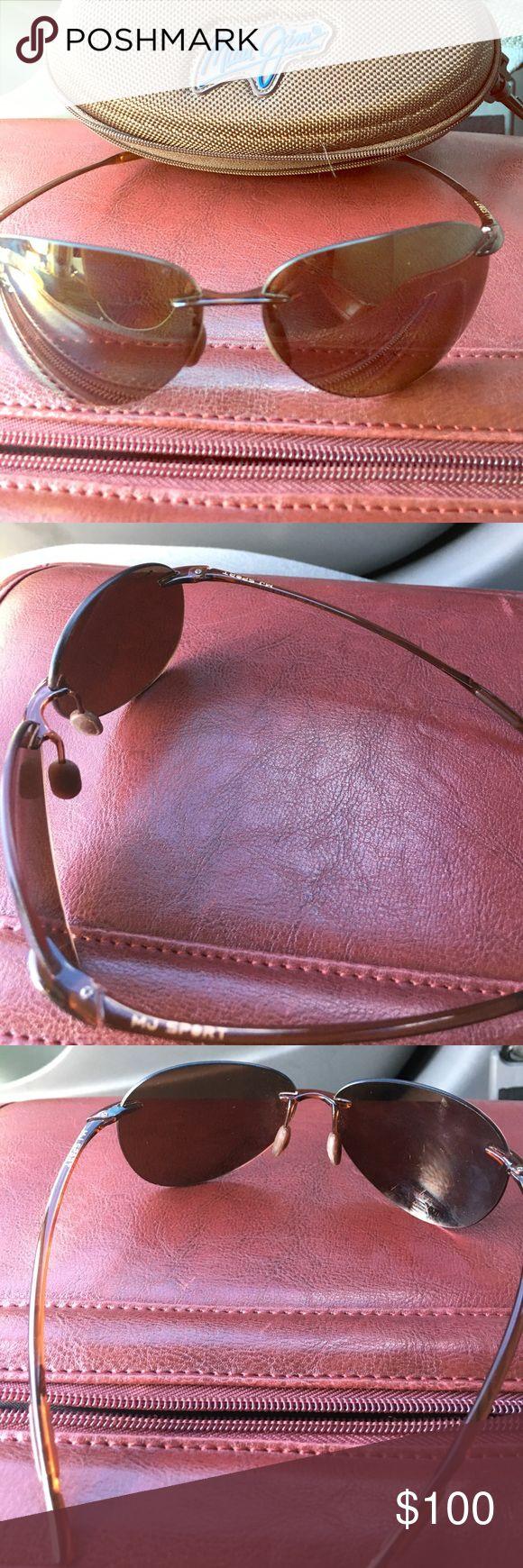 Maui Jim MJ Sport sunglasses Maui Jim MJ Sport polarized sunglasses.  Great condition.  Barely worn.  Not my style.  Best offer Maui Jim Accessories Sunglasses