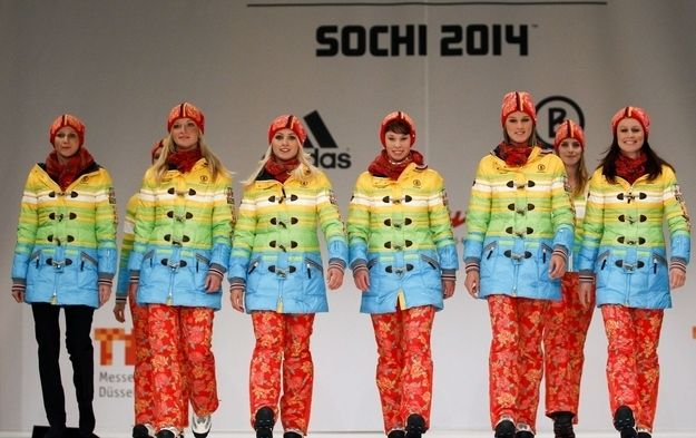 German Rainbow Olympic Uniforms