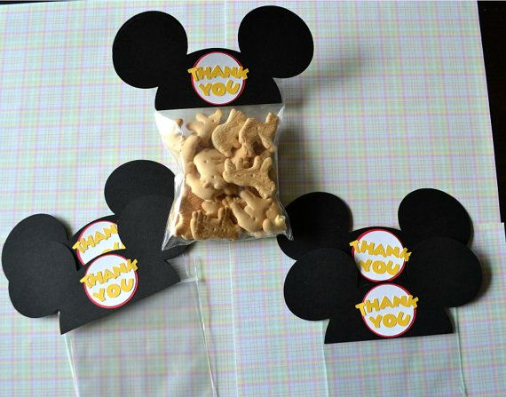 Mickey Mouse Ears  animal cookies: Treats Bags, Bday Ideas, Birthday Parties, Parties Favors, Parties Ideas, Parties Bags, Mickey Parties, Mickey Party, Mickey Mouse Ears