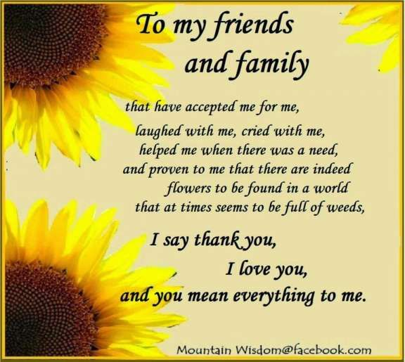 17 Thanks To My Family And Friends Quotes Thanks To My Family