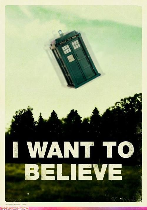 Every time I hear a noise that sounds like the TARDIS....