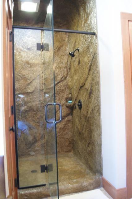 Bathe In A Concrete Cave Shower Vertical Concrete Walls