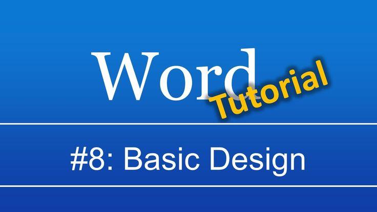Abschlussarbeit in Word #8: Design und Formatierung
