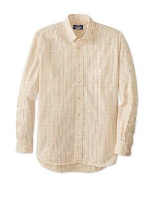 74% OFF Norman Men's Long Sleeve Multi Check Button Down Shirt (Cream Combo)