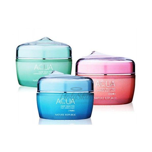 Super Aqua Max Watery Cream Ултра-увлажняющий крем для лица от Nature Republic…
