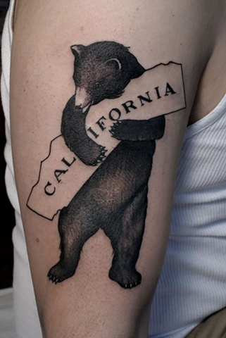 >>>This is by Erik Jacobsen at Idle Hand -: Rad Tattoo'S, Bears Hug, Tattoo'S Idea, California Tattoo'S, California Bears Tattoo'S, Cali Bears, States Tattoo'S, Tattoo'S Ink, Hands Tattoo'S