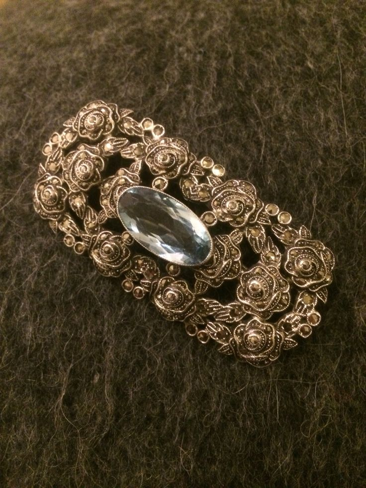 One of my favourite vintage brooches it's #silver #marcasite & #paste and lives on my overcoat #vintageprettythings